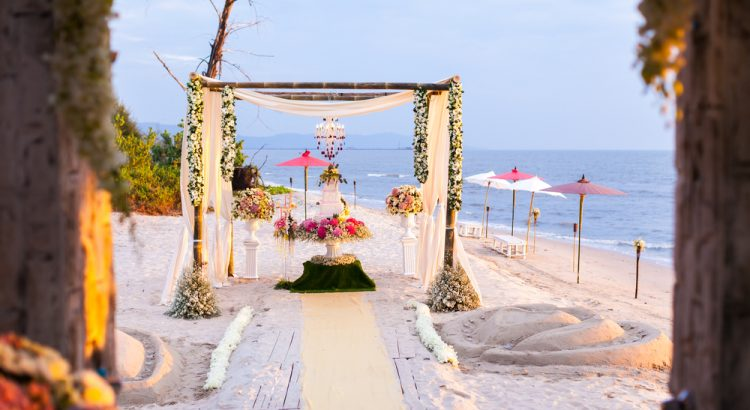 wedding location at beach